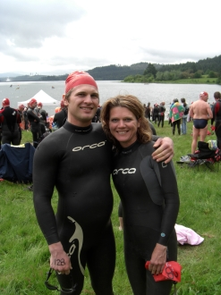 Scoggins Valley Tri with my brother